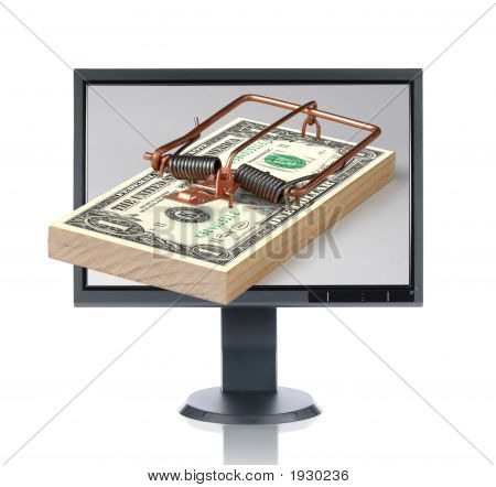 Lcd Monitor And Money Trap