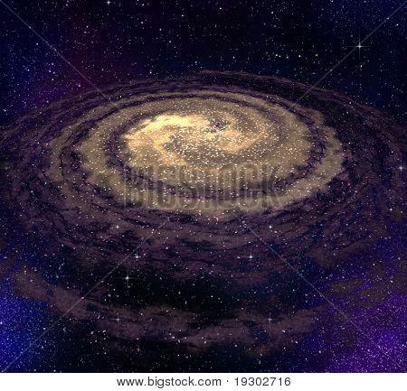 great spiral vortex galaxy in deep space
