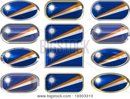 twelve buttons of the Flag of Marshall Islands