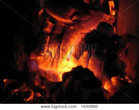 Carbón en fuego