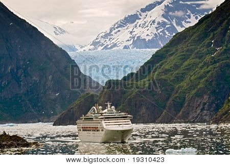 Cruise Ship in Tracy Arm Fjord