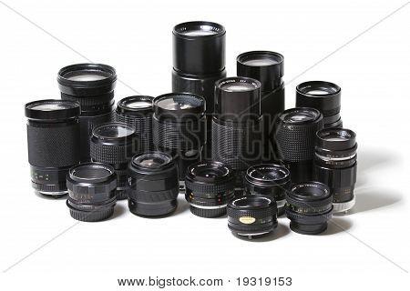 old camera lenses