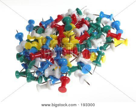 Jumble Of Push Pins