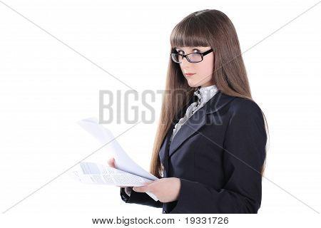 Business Girl Looking At Camera