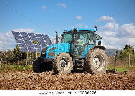 Tractor Farming In Field