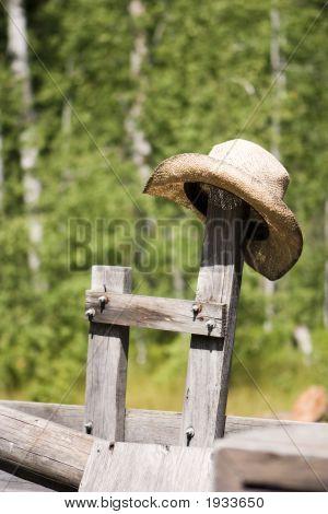 Cowboy Hat On Post