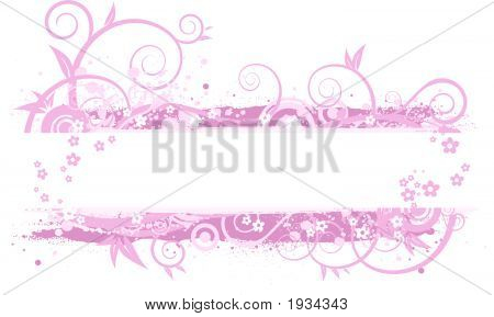 Pink Banner Illustration