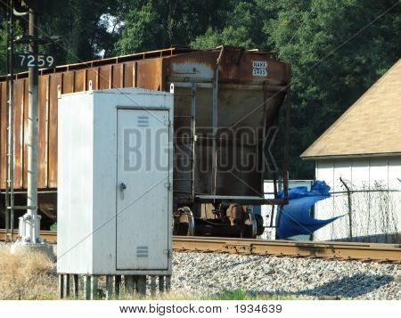 Train Car On Side Spur