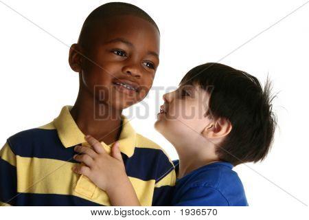 Adorable Boys Telling Secrets