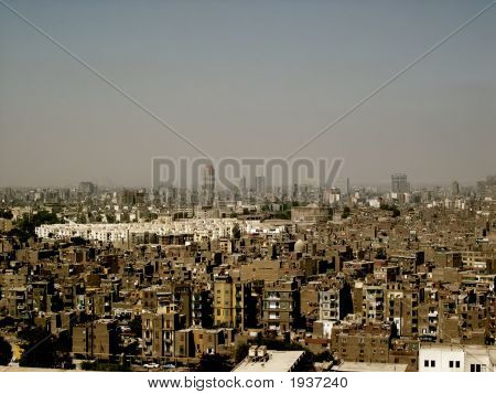 View Of The Skyline Of Cairo In Sepia