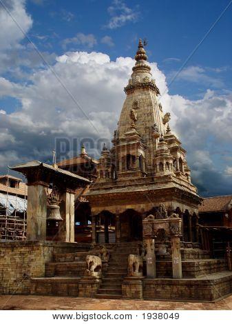 Temple In Bhaktapur, Durbar Square Kathmandu Nepal