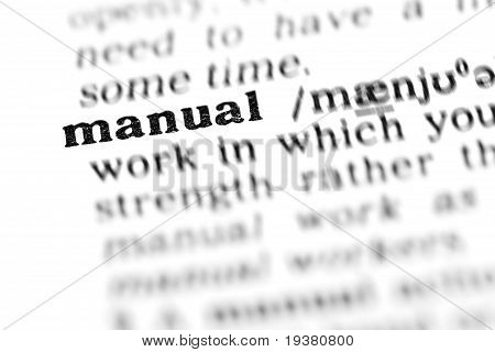 Manual (the Dictionary Project)