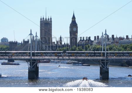 Houses Of Parliament And Bridge London
