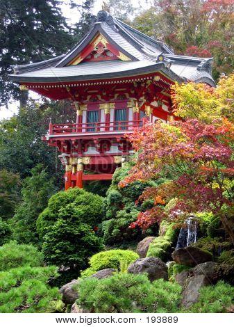Pagoda In Japanese Garden