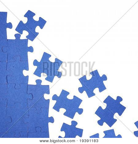 Photo of blue puzzle