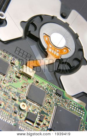 Electronics On Back Side Of Hard Drive