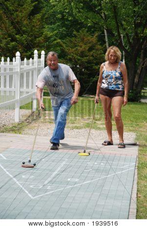 Retired Couple- Shuffleboard