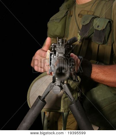 The soldier with the automatic weapon
