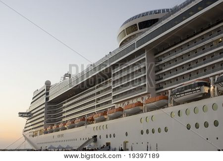 Cruise on a huge cruise ship