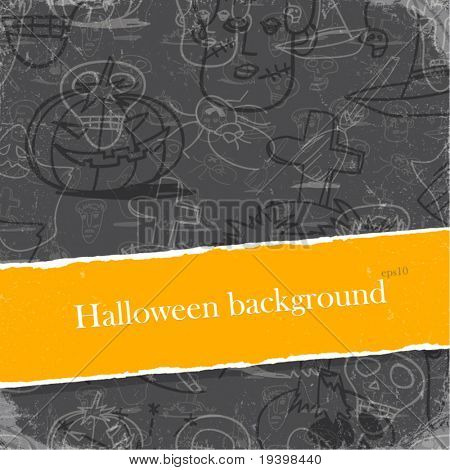 Halloween backgrounds set with copyspace. Easy editable by layers, eps10.