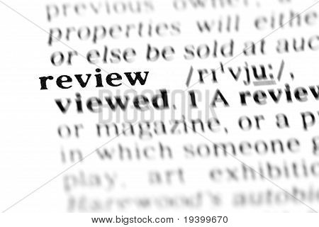 Review (the Dictionary Project)