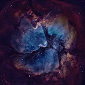 The Trifid Nebula Is An H Ii Region Located In Sagittarius. poster
