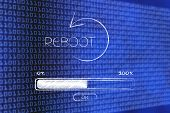 Reboot Icon With Progress Bar Loading poster