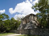 image of ziggurat  - the ancient temple of chichen itza at mexico - JPG