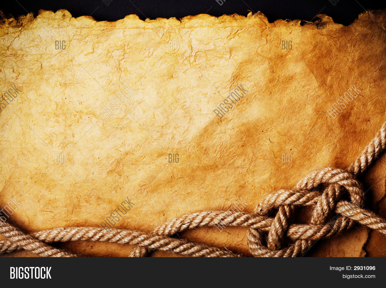 Rope On Old Paper Image Amp Photo Bigstock