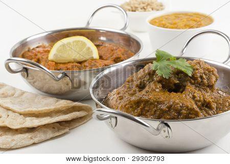 Goan Chicken Xacuti & Meat Madra