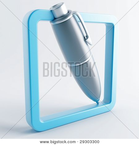 Icon in gray-blue color on a white background