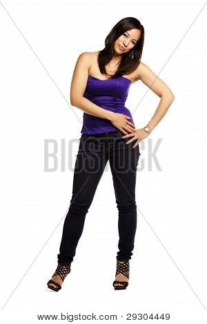 Confident Young Asian Woman Standing