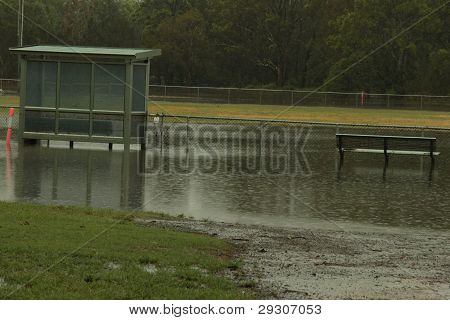 Brisbane, Australia - Jan 25 : One Year On Brisbane Flooding Again, Redcliffe Peninsula Australian F