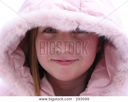 Winter Cutie - Portrait Of A Young Girl