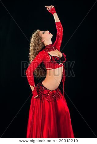 Beautiful  Dancer In Eastern  Costume