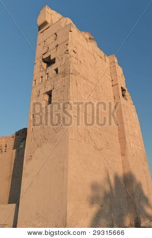 Pillar Kom Ombo Temple Covered With Hieroglyphics (Egypt)