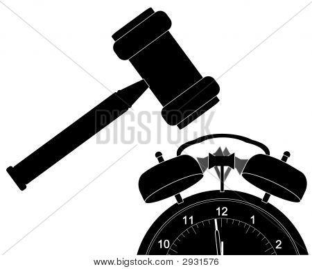 Gavel Smashing Alarm Clock
