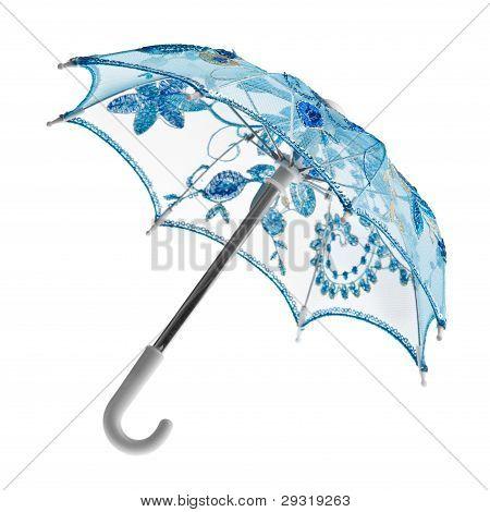 blue toy umbrella