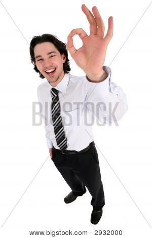 Businessman Giving Ok Gesture