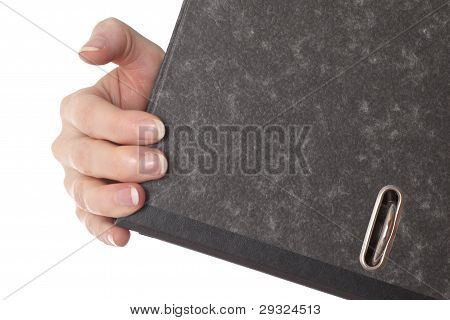 Hand Is Holding A File