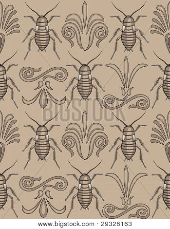 Elegant Cockroach Wallpaper Repeating Seamless