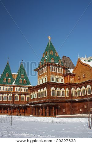Russia, Moscow. The restored palace of Tsar Alexei Mikhailovich in the estate Kolomenskoe.