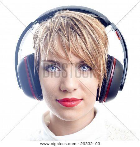 Attractive Girl With Headphones