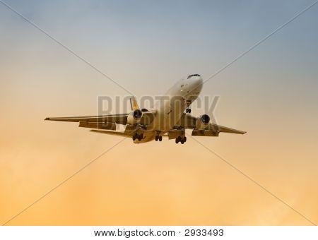 Cargo Jet Landing