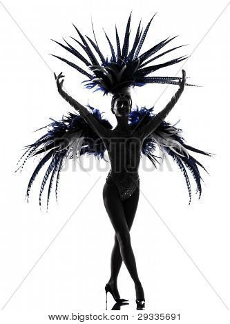 poster of woman showgirl dancer revue dancing in studio isolated on white background
