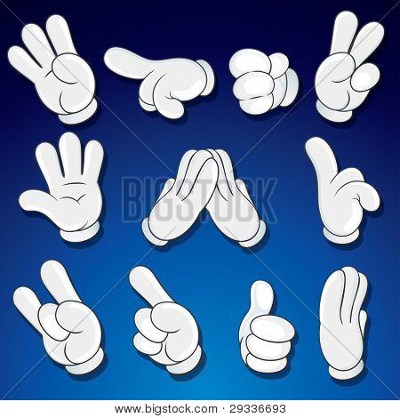 Comics Cartoon Hands, Gestures, Signs clip art