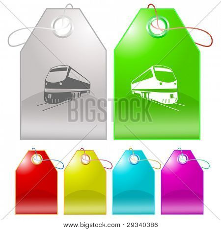 Train. Raster tags. Vector version is in my portfolio.