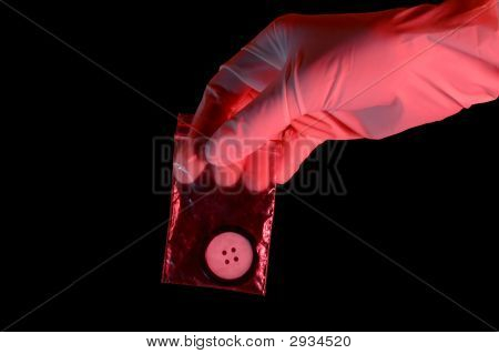 Hand In Glove Holding The Evidence