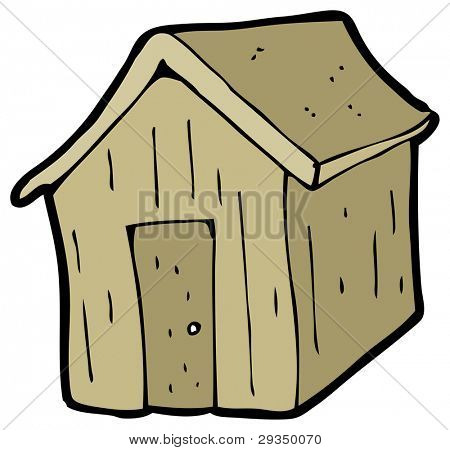 Shed cartoon raster version image photo bigstock for Garden shed 3x5
