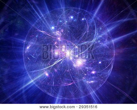 Abstract model of Big Bang in outer space.